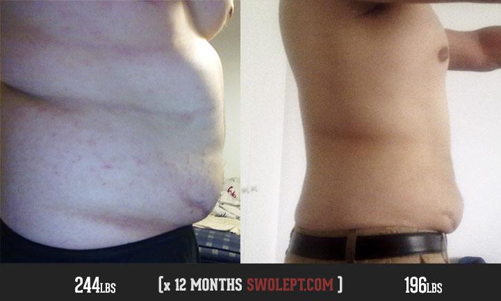 Amazing fat loss muscle gain transformation