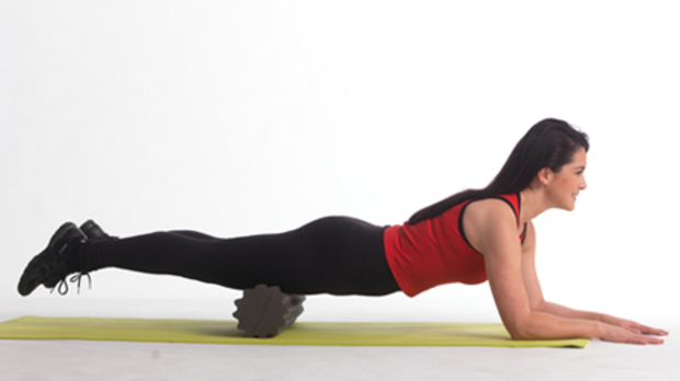 Foam roll for a straight back and good posture